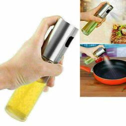 Glass Oil Pump Spray Bottle Olive Can Tool Pot Cooking Kitch