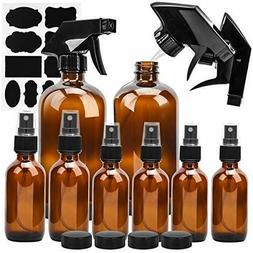 Glass Spray Bottle, ESARORA Amber Glass Spray Bottle Set For