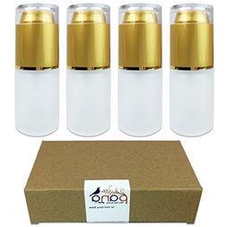1oz / 30ml Gold Frosted Glass Spray Bottle with Fine Mist S
