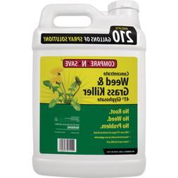 Grass Weed Killer 2.5 Gal Glyphosate Concentrate Destroys Pe
