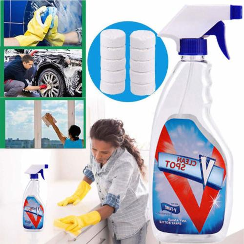 10x Multifunctional Effervescent Cleaning Kit+ Bottle