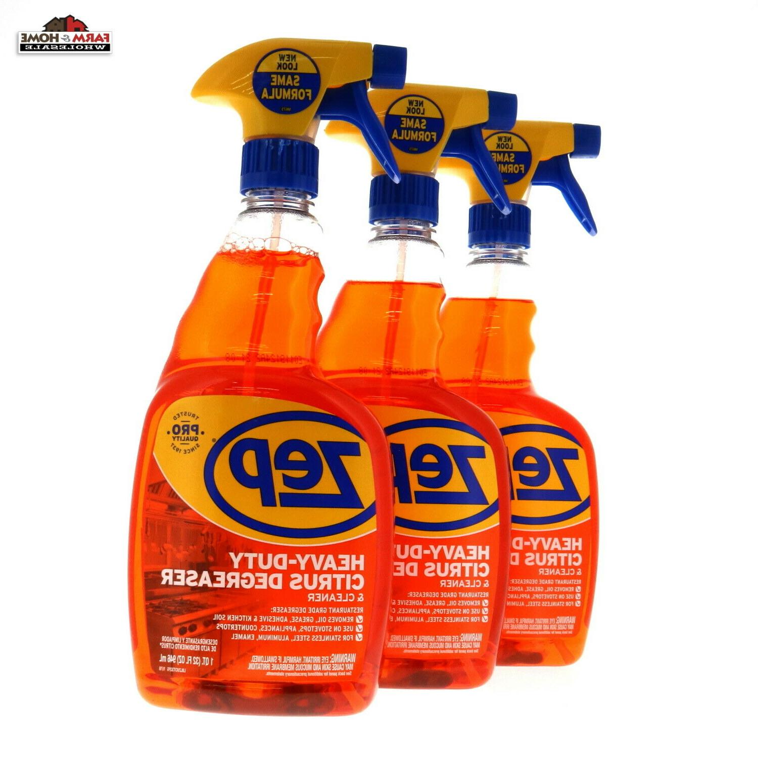 3 heavy duty citrus degreaser and cleaner