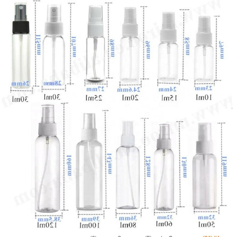 5Ps 30/60ml Plastic Atomizer Empty Misty