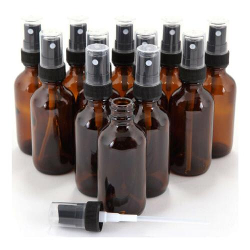 AMBER GLASS BOTTLE SPRAY 1 Oz Fine Mist Sprayer Bottles Esse