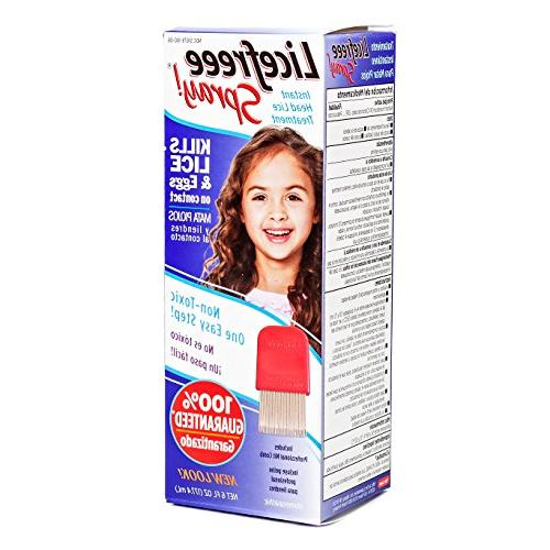 Licefreee Spray, Instant Head Lice Treatment Spray Bottle Wi