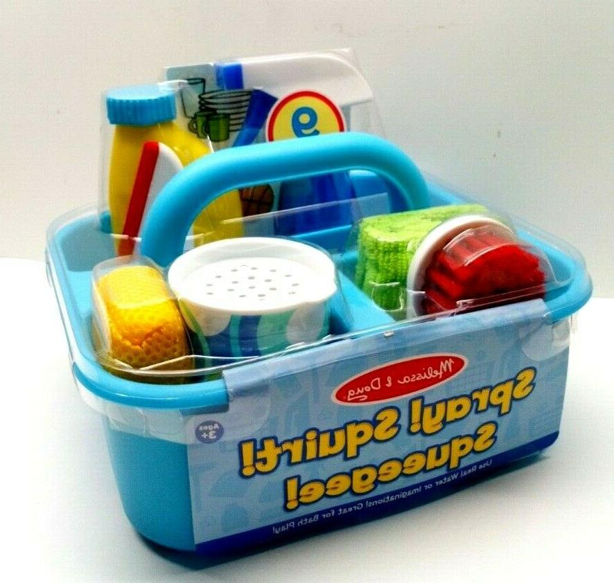 Melissa & Doug Spray, Squirt & Squeegee Play Set, Pretend Pl