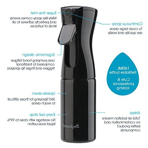 Segbeauty Spray Sprayer for Hairdresser Airless Aerosol Water Squirt Bottle for Pets Clean -