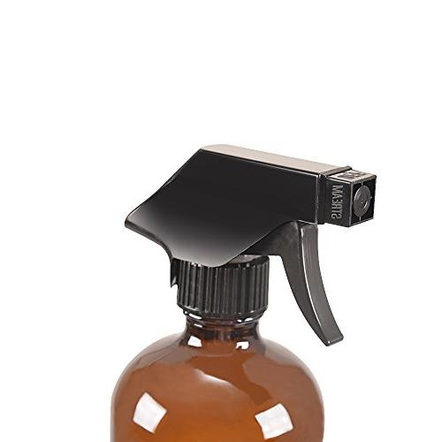 6 Glass Spray Bottle Trigger Sprayer.16 oz Bottle Essential Products,Aromatherapy,Organic Products.Stream and Spray Settings