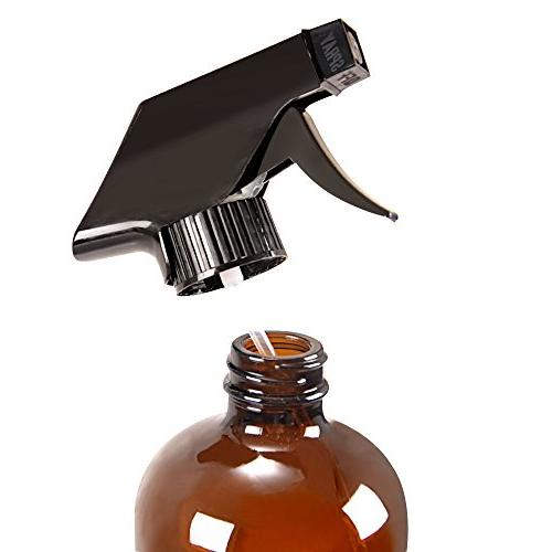 6 Amber Bottle Bottles Bottle for Oils,Cleaning Products,Aromatherapy,Organic Beauty Spray Settings