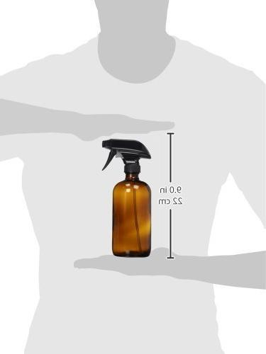 Amber Glass Spray 16 oz Trigger Phenolic and Refillable Container Essential Oil's, Cleaner's, Quality