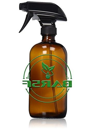 Amber 16 oz with Trigger Sprayer, Cap Refillable Container and Liquid's, Quality