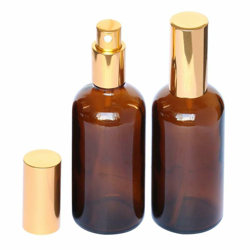 Amber Spray Bottle 4oz Cologne,Perfume,Essential Oils,Refillable 2 PAC