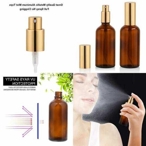 amber glass spray bottle 4oz for cologne