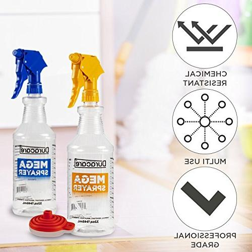 9277e393d067 Duracare Spray Bottles for Cleaning Solutions, Industrial Strength,