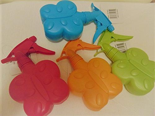2 BUTTERFLY PLASTIC EMPTY - FOR PLAY - HAIR MULTI PURPOSE CLEANING ADORABLE RANDOM COLORS SHIPPED- each