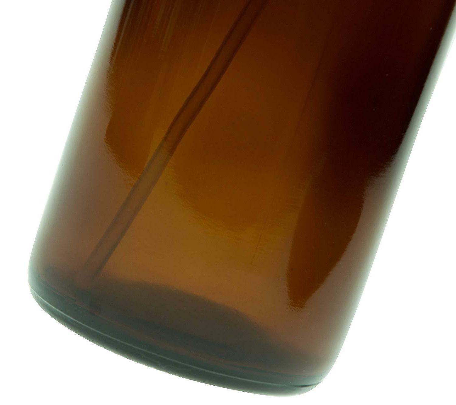 Empty Amber Glass Spray Bottles - 16oz Refillable