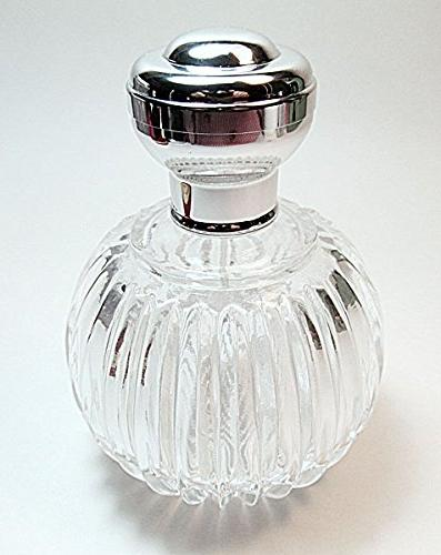 Men's empty glass refillable perfume/cologne atomizer spray pump and over