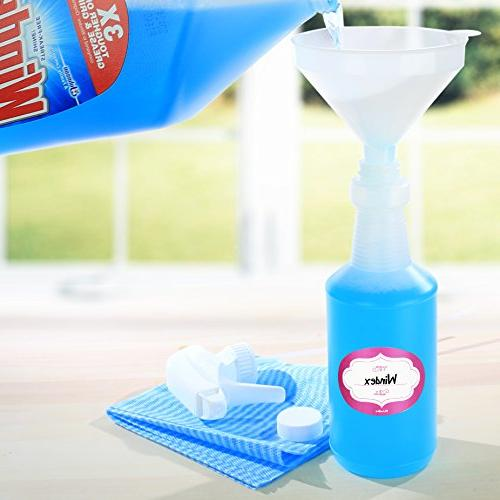 DilaBee Spray Bottles 4 - in - Oz. 100% Leak Proof, Heavy-Duty with Bonus Funnel, Caps and Purpose Use