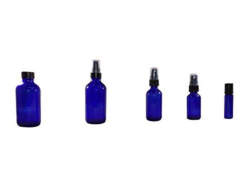 Mist spray/Glass Medicine Amber Round Bottles 6Pack - Scents, Bath, Cooking, Cosmetic.-