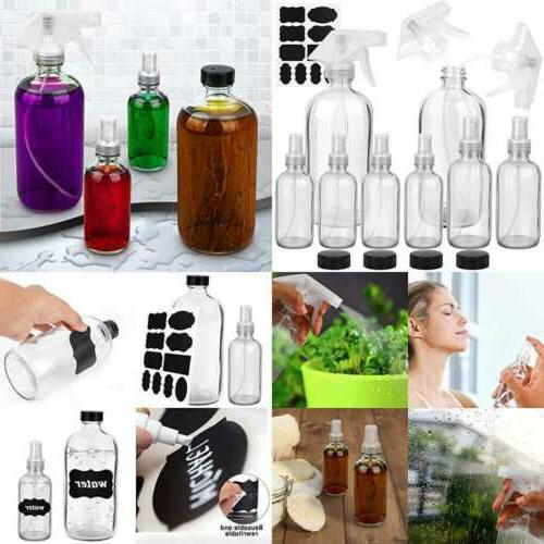 glass spray bottle clear set for essential