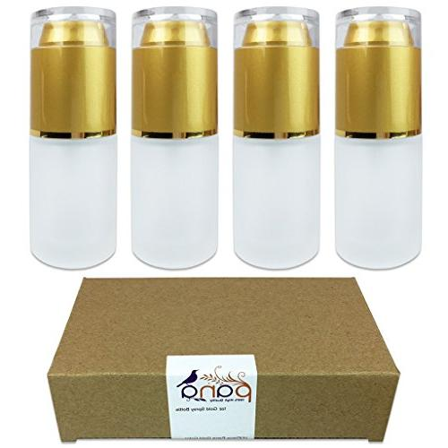 gold frosted glass bottle