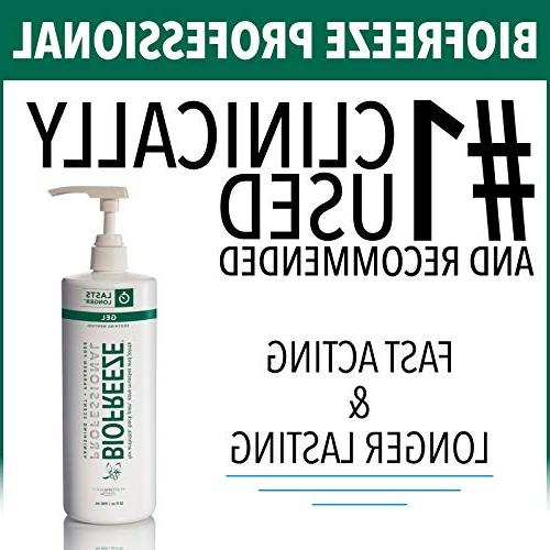 Biofreeze Professional Relieving Gel, Muscle, Joint Pain, NSAID Free Pain Reliever 32 Original Formula, Menthol