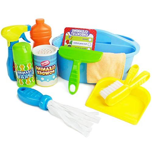 pretend play cleaner caddy cleaning