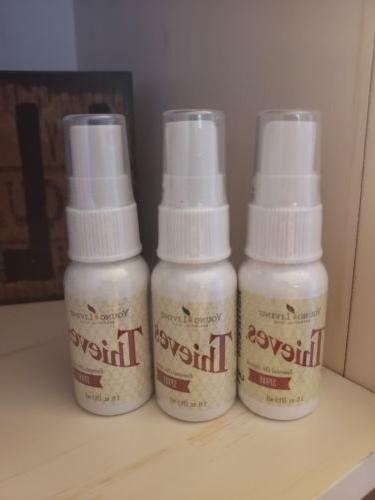thieves essential oil spray 3 bottles by