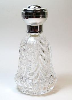 Men's empty glass refillable perfume/cologne bottle with sil