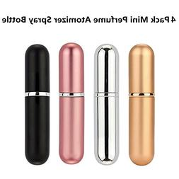 4 Pack Mini Refillable Perfume Atomizer Spray Bottle for Tra