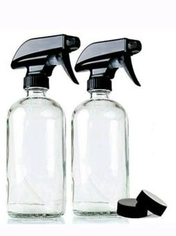 NEW! Chefland Empty Clear Glass Spray Bottles | 2 Pack 16 Oz
