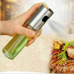 NEW Glass Oil Pump Spray Bottle Olive Can Tool Pot Cooking K
