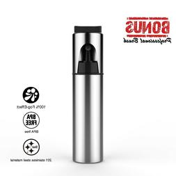 Olive Oil Sprayer,Stainless Steel Cooking Spray Bottle with