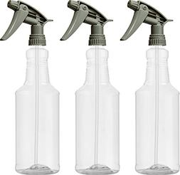 Bar5F Plastic Spray Bottles 32 oz with Chemical Resistant He
