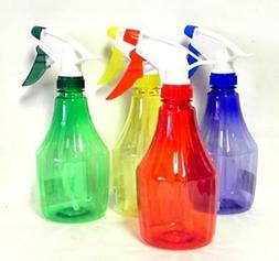 12 Pack Plastic 16 Ounce Spray Bottles Assorted Colors Refil