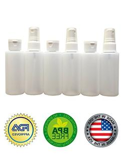 2oz Plastic Spray Bottles and Flip-Cap Squeezable Travel Bot