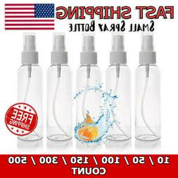 2 oz-60 mL & 4 oz-120 mL, Small Clear PET Plastic Empty Roun