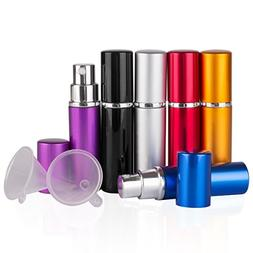 DE 6pcs 10ml Portable Mini Refillable Perfume Scent Aftersha