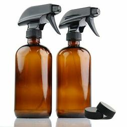 Premium Quality 2-Pack Amber 16 Oz Glass Spray Bottles By Ch