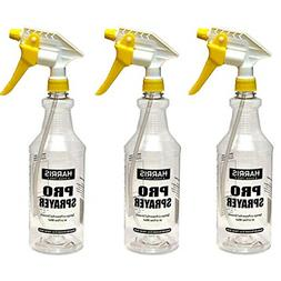 Harris Professional Spray Bottle 32oz 3-Pack, All-Purpose wi