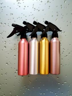 Reusable Aluminum Spray Bottle 10oz. Fluid Capacity Lot of 4