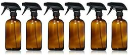 Sally'S Organics Empty Amber Glass Spray Bottle - Large 16 O