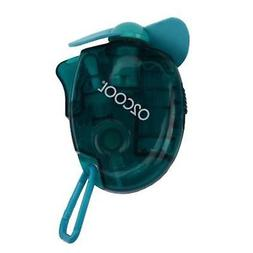 O2COOL Small Carabiner Keychain Misting Fan, Teal 1 New