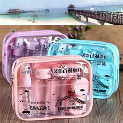 Transparent Refillable Lotion Travel Bottle Set Cosmetic Spr