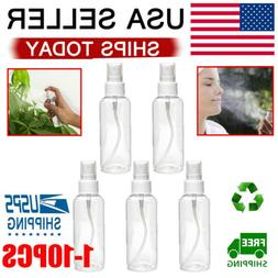 Travel Transparent Plastic Perfume Atomizer Empty Spray Bott